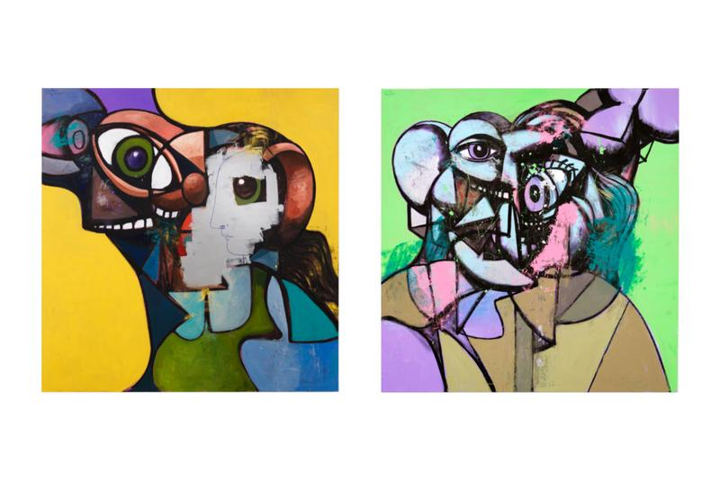 george condo internal riot exhibition hauser and wirth paintings drawings