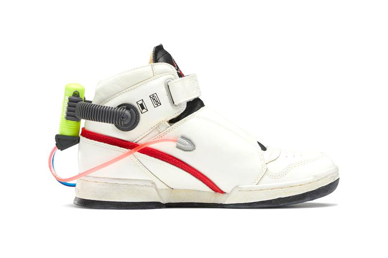 "'Ghostbusters' x Reebok Ghost Smashers Classic Leather Sneaker Collaboration Release Information Closer Look ""Who You Gonna Call?"" White / True Grey 8 / Scarlet FY2106 H68136 Modern Beige / Black / Blaze Yellow"