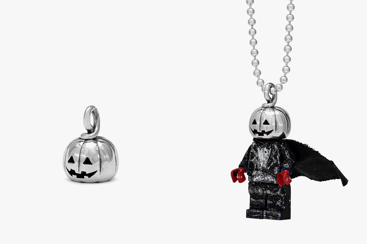Goodfight x Good Art HLYWD halloween collaboration tee shirt pumpkin head sterling silver lego minifigure collection release date info buy misfits Jun Fukushima