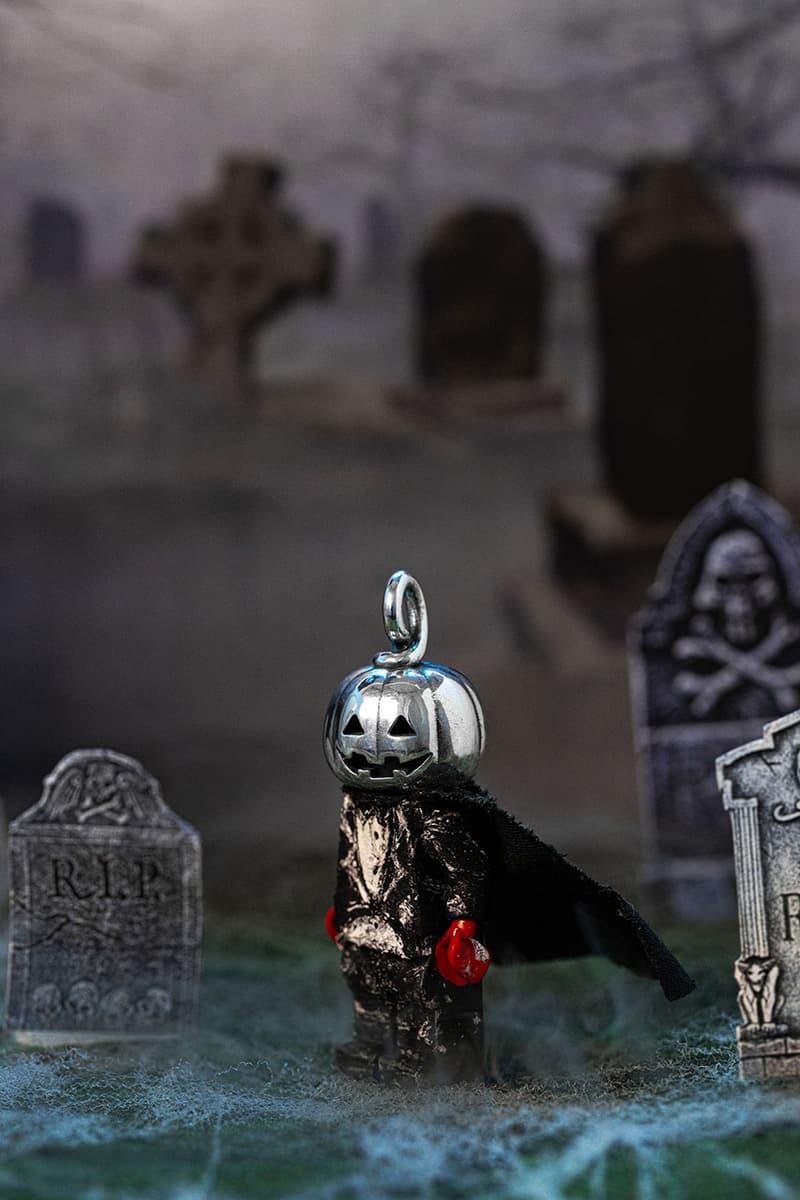 Goodfight x Good Art HLYWD halloween collaboration tee shirt pumpkin head sterling silver lego minifigure collection release date info buy misfits Jun Fukushima