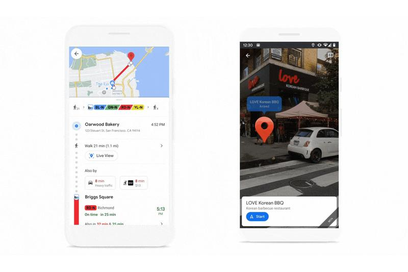 google maps live view android ios apple iphone pixel augmented reality landmarks update release