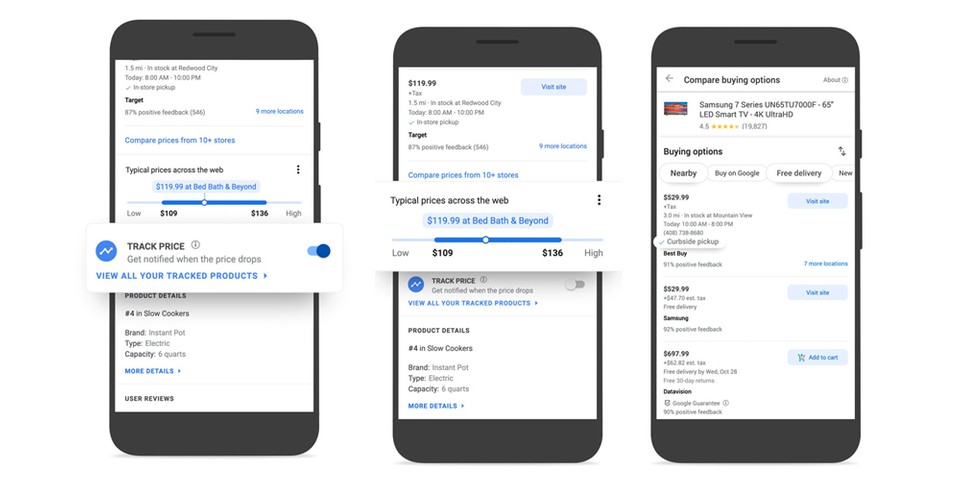 Google Launches Price Tracking and Comparison Tools for Online Shopping