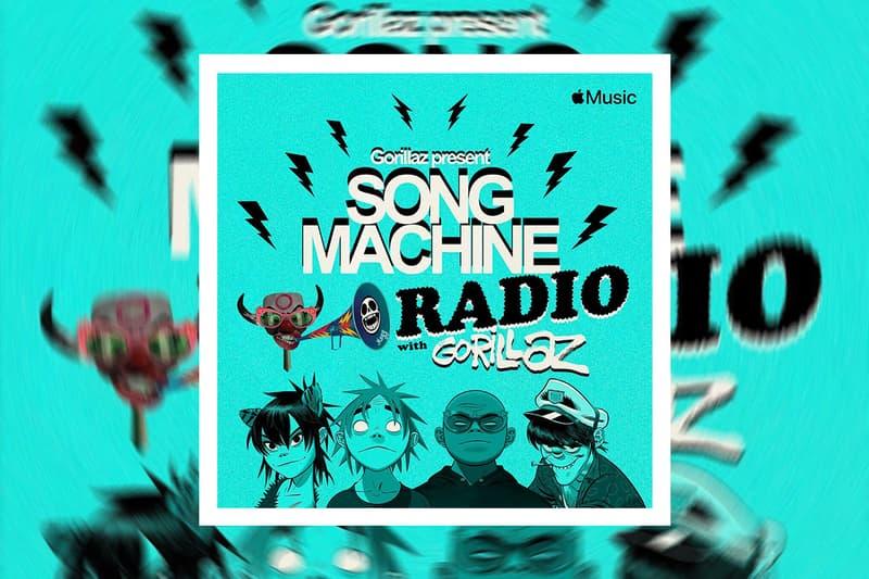 Gorillaz Apple Music Song Machine Radio announcement damon albarn Jamie Hewlett 2D, Murdoc Niccals, Noodle, Russel