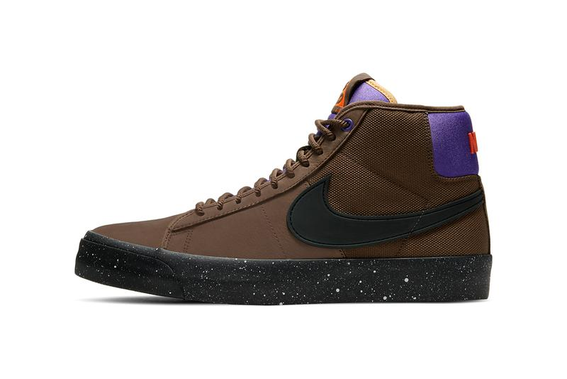 nike sb skateboarding zoom blazer mid pro gt grant taylor acg all conditions gear trails end brown prism violet purple total orange black DC0615 200 official release date info photos price store list buying guide