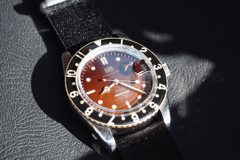 GrowthRing & Supply Project Rising Drop 2 WMT Panton Watch bakelite vintage tropical dial rolex submariner GMT II watches miyota Hong Kong Chinese Dial