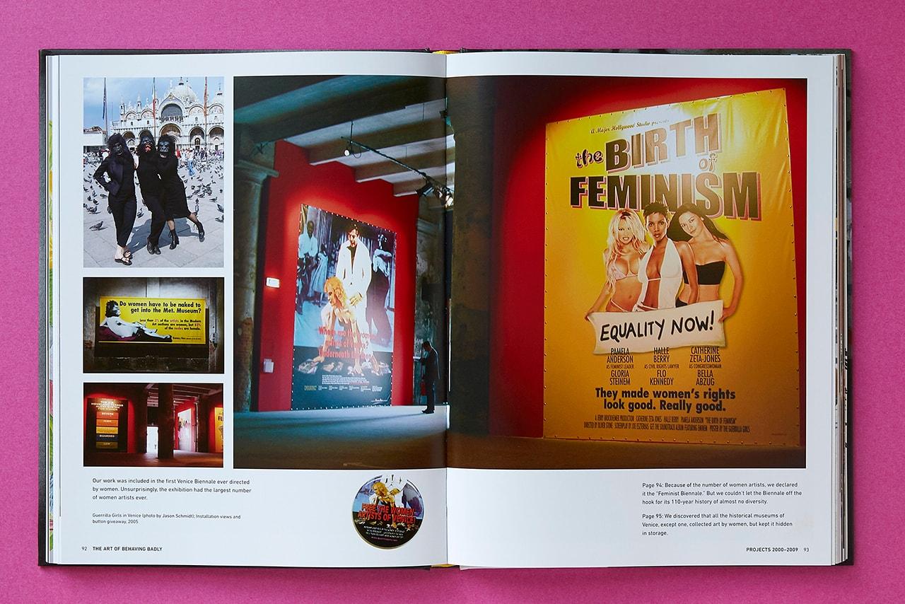 Guerrilla Girls: The Art of Behaving Badly, published by Chronicle Books 2020 art activism black lives matter racism sexism museum kathe kallowitz frida kahlo gorilla