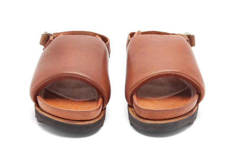 Guidi Ridged-Sole Leather Sandals Khaki Green Brown Luxury Slides Lugged Outsole Chunky Footwear Designer Hand Crafted Italy Footwear Release Information MatchesFashion.com $720 USD