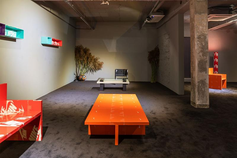 Gyu Han Lee nike box furniture seats tables shelving units coffee table design art arts The Pattern is The Pattern exhibition gallery doqument seoul south korea doq12 look inside online pictures