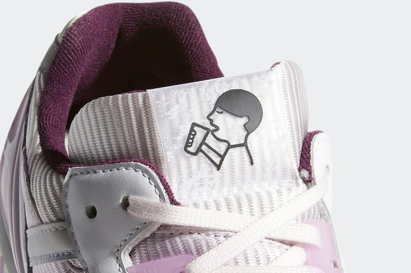 "Hey Tea x adidas Originals ZX 7000 ""A-ZX"" Series fz4401 Shenzen Tea Company Release Information Drop Date Closer Look Three Stripes OG MERLOT/RICMAU/CLELIL"