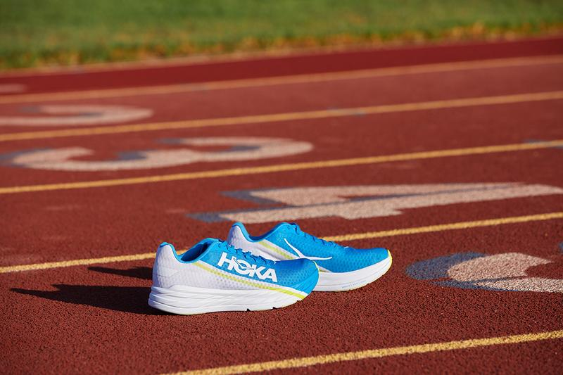 HOKA one one running sneaker carbon fiber plate release information where to buy marathon short distance