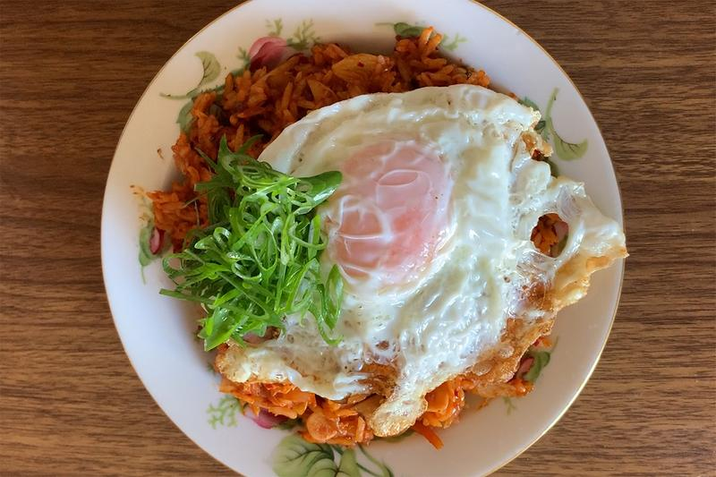 how to make kimchi fried rice video
