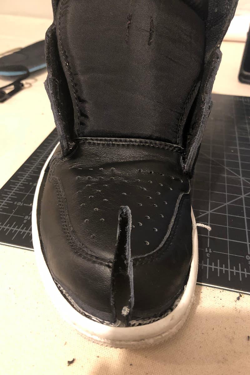 hypebeast how to tabi shoes jonathan lee split sole toe sneakers air jordan one japanese
