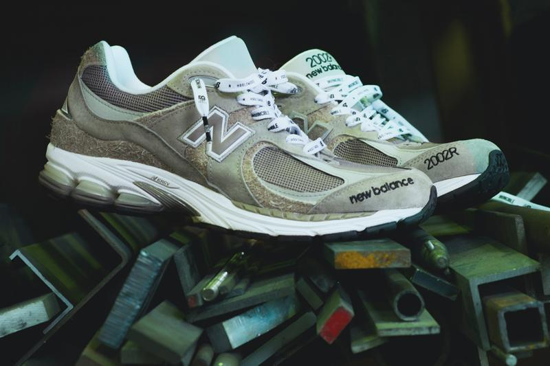 INVINCIBLE x N.HOOLYWOOD x New Balance 2002R Collaboration Closer Look ABZORB N-ERGY Cushioning Sneaker Release Information Drop Date Military Ripstop Materials Suede CM996 Fuzzy ML574