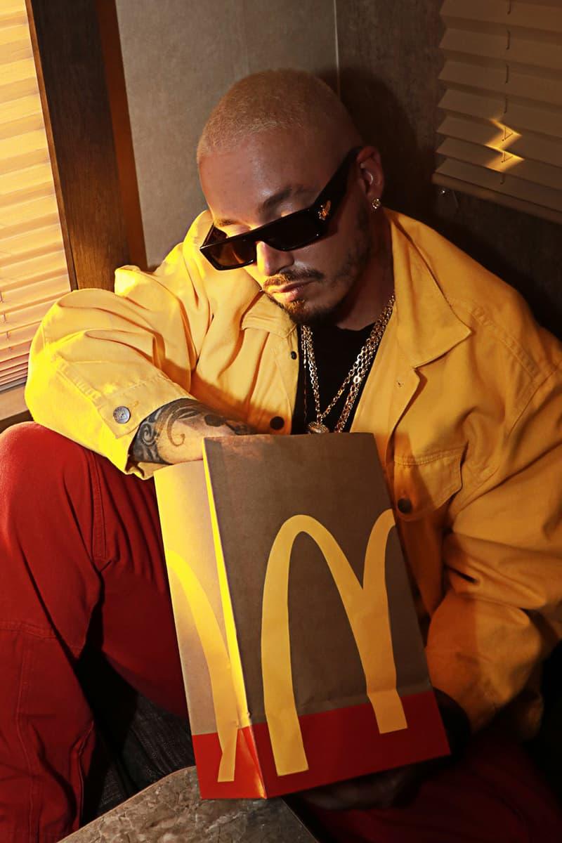 j balvin mcdonalds artist meal collaboration big mac oreo mcflurry fries ketchup