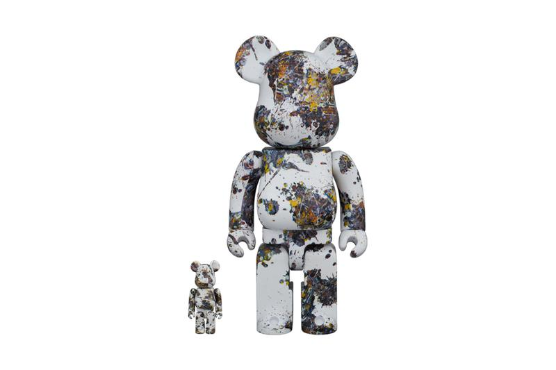 jackson pollock medicom toy bearbrick 100 400 1000 drip splash paintings multicolor white official release date info photos price store list buying guide