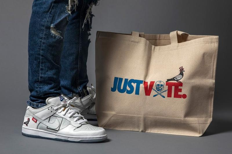 jeff staple pigeon the shoe surgeon custom nike dunk low just vote registration sweepstakes giveaway official release date info photos price store list buying guide