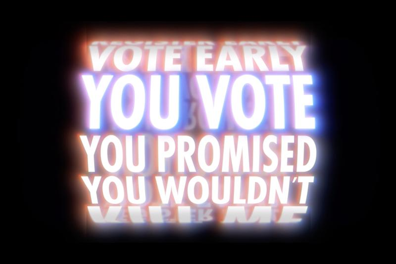 jenny holzer plan your vote animations