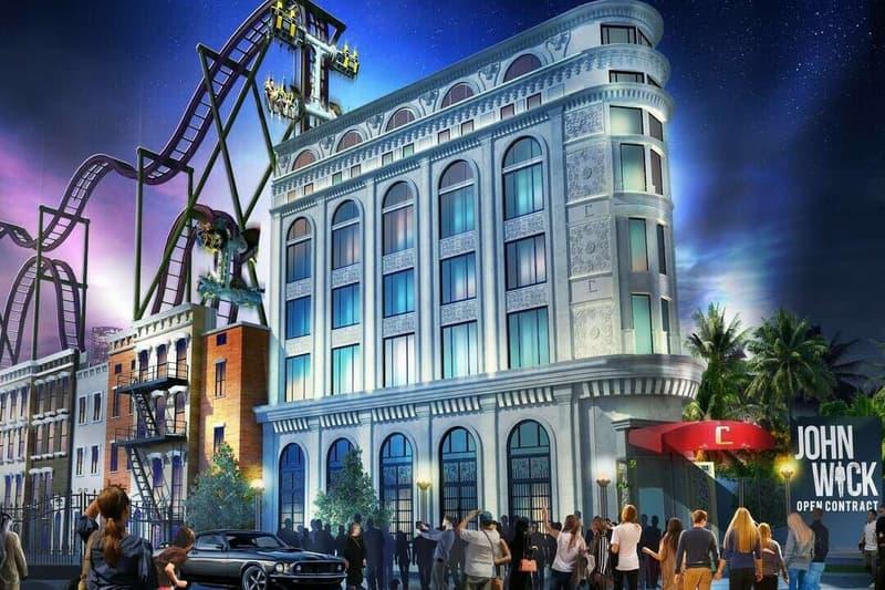 Keanu Reeves John Wick Rollercoaster Now You See Me Amusement Park Dubai Debut 2021 Lionsgate