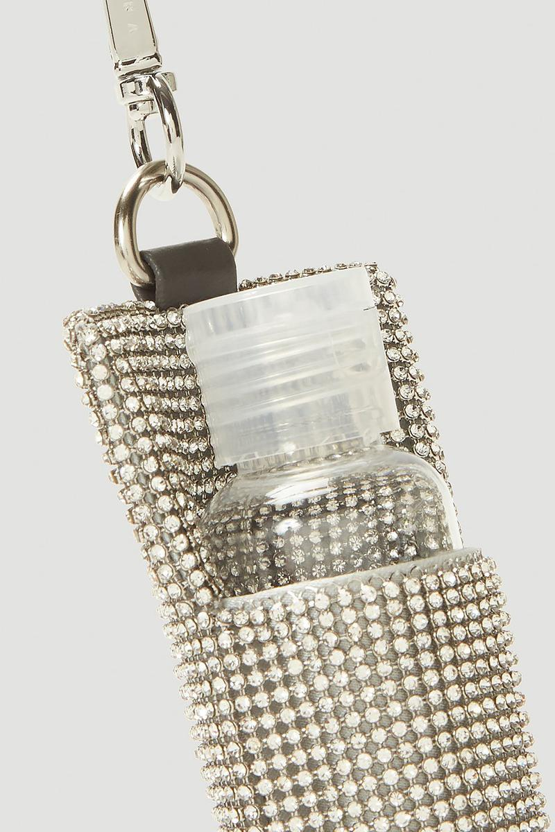 KARA Crystal-Embellished Chainmail Sanitizer Pouch COVID-19 Coronavirus Mini Bag Small Accessories Luxury Fashion Bags Paris Hilton Y2K 2000s Diamontes