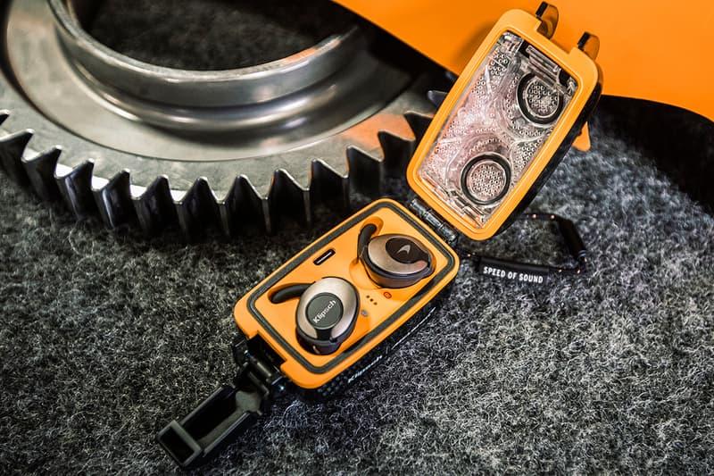 """McLaren x Klipsch Audio T5 II True Wireless Sport McLaren Edition Earphones Earbuds Carbon Fiber Case Racing Race Design """"Papaya Orange"""" Sound Listen Technology Charging"""