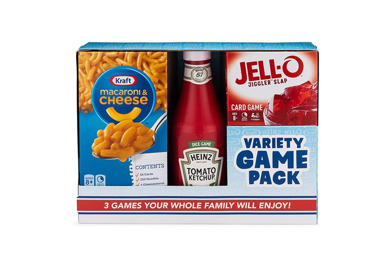 Kraft HEINZ Releases Three-Pack Variety Board Game JELL-O Macaroni & Cheese HEINZ Ketchup brands foot games Big G Creative