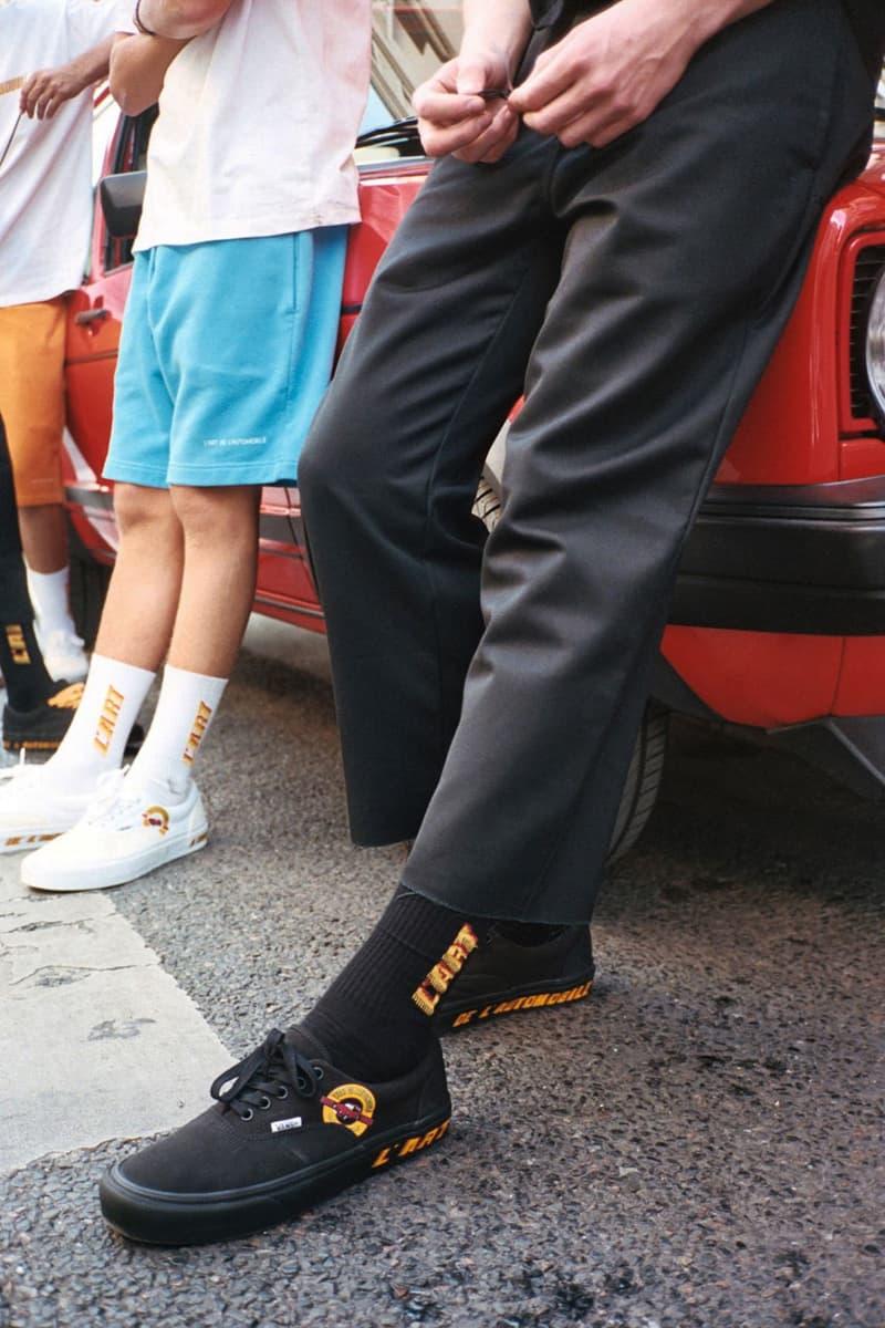 L'Art de l'Automobile x Vans Vault Golf GTI Era sneaker collaboration volkswagen black white colorway release date info buy SPEED alacantara