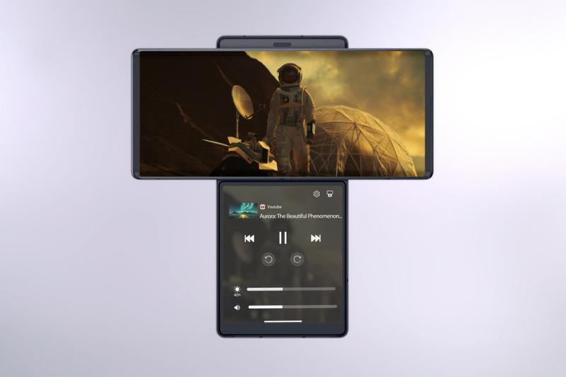 LG's WING Smartphone Sees a Swivelling Second Screen Korea South Korean tech mobile movies videos recording entertainment gadgets 5G communication