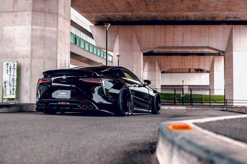 Liberty Walk Lexus LC500 Wide Body Kit JAPAN LB tuner body kits JDM dropped bagged stance supercars sports cars matte black automotive