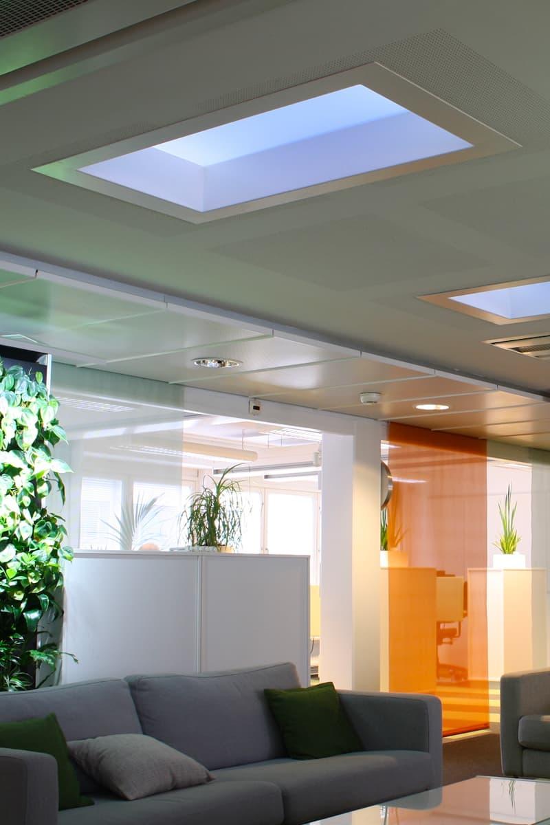 Light Cognitive Design LED Skylights Mimic sky natural light finland tech module algorithm machine learning company
