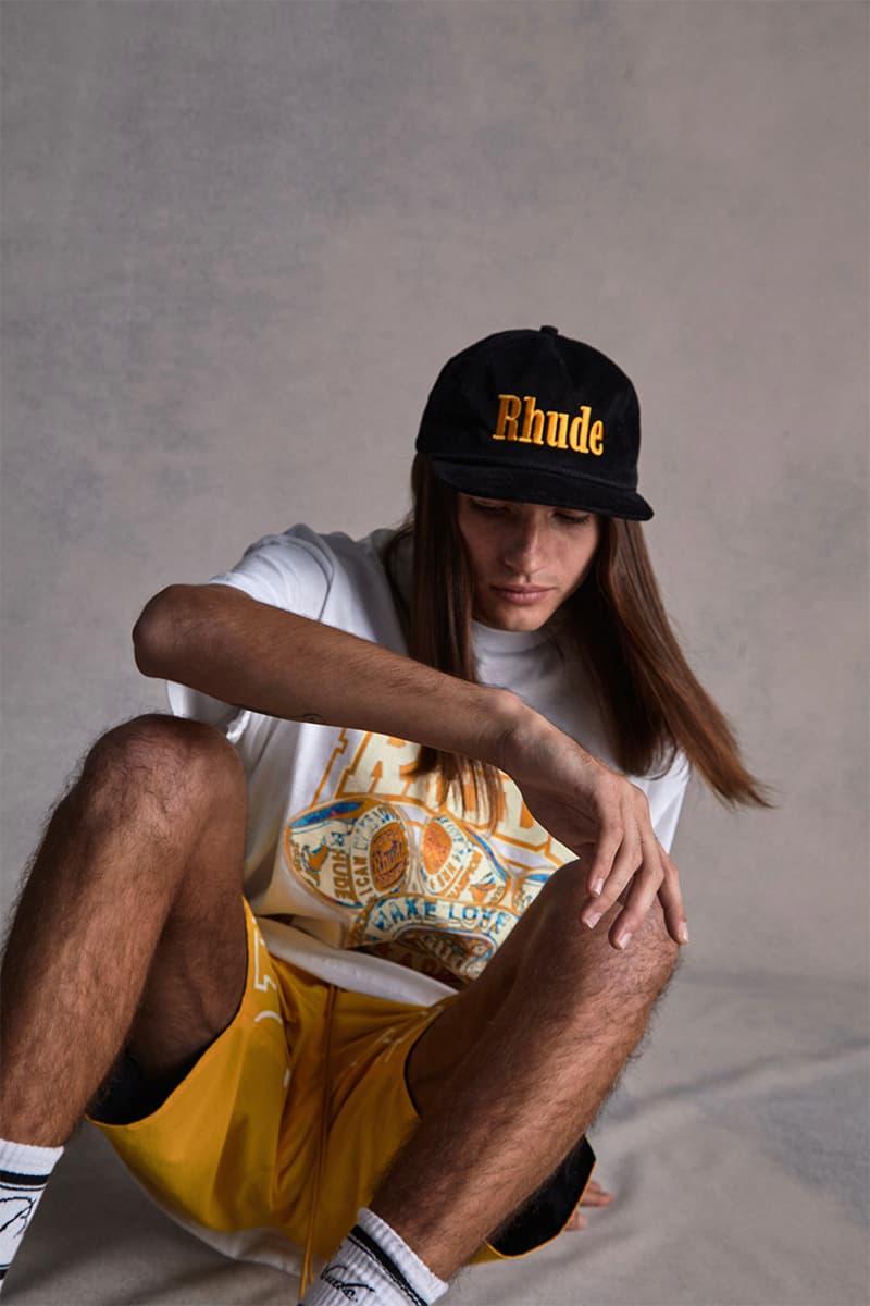 Los Angeles Lakers RHUDE Collection Capsule Release New Era Snapback Cap Hat Socks Jacket Pants T shirt