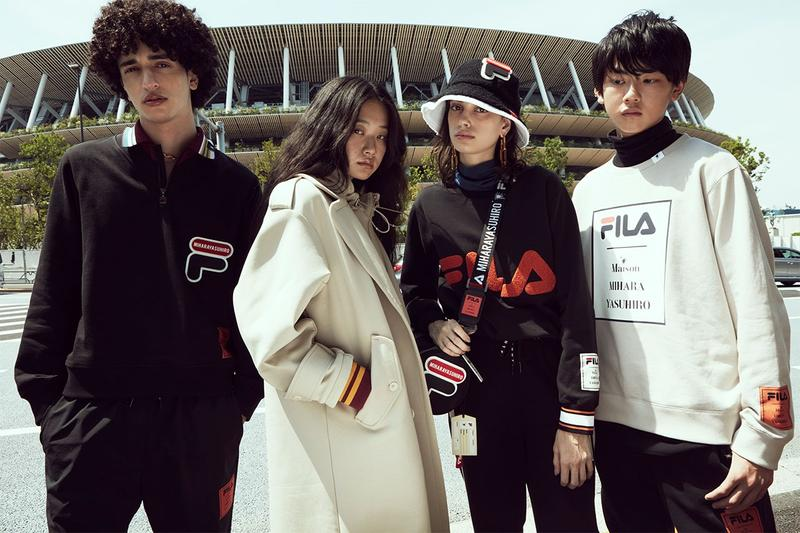 "Maison Mihara Yasuhiro x Fila Fall/Winter 2020 Collection Lookbook Release Information Closer Look Mens Womens ""Brand New Classics"" Ivy League 1960s Sweaters"