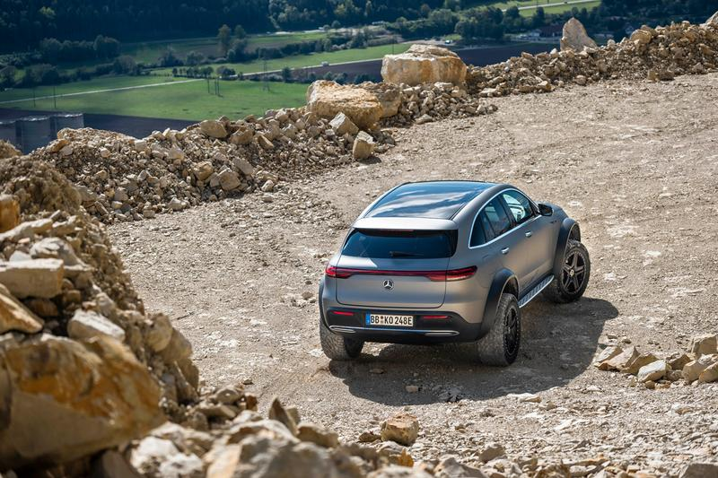 Mercedes-Benz EQC 4×4² Concept Reveal Automotive German Engineering Closer Look 4WD Off Road Luxury Electric Car SUV Extreme E400 4MATIC
