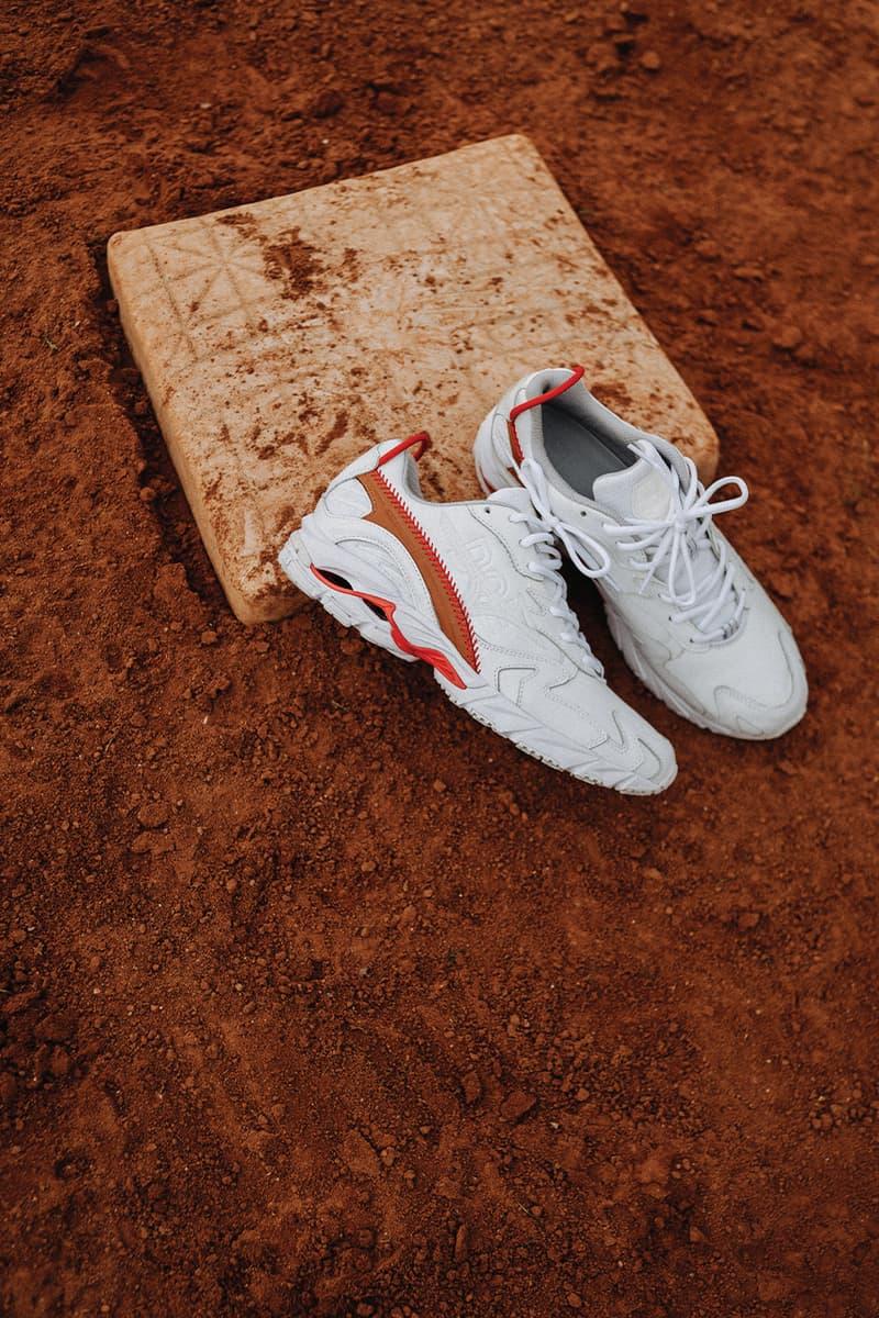 mizuno wave rider clay red DOE collaboration fall winter 2020 baseball inspired Hanon online raffle