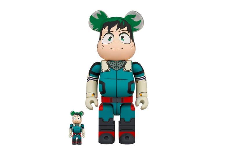 "Medicom Toy Channels All Might in New ""My Hero Academia' BE@RBRICK Set Izuku Midoriya  Toshinori Yag anime manga"
