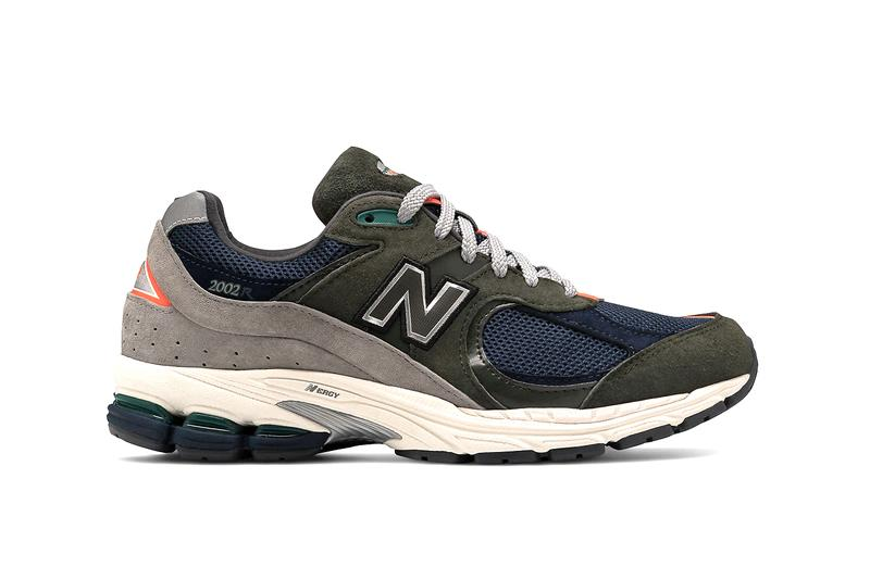 New Balance 2002R In-Line Sneaker Shoe General Release Multiple Colorways Closer Look Drop Date OG Trainer Runner Retro Chunky Marblehead with light aluminum Pigment Bone Defense green with natural indigo Camo green with nettle green Petrol with exuberant pink