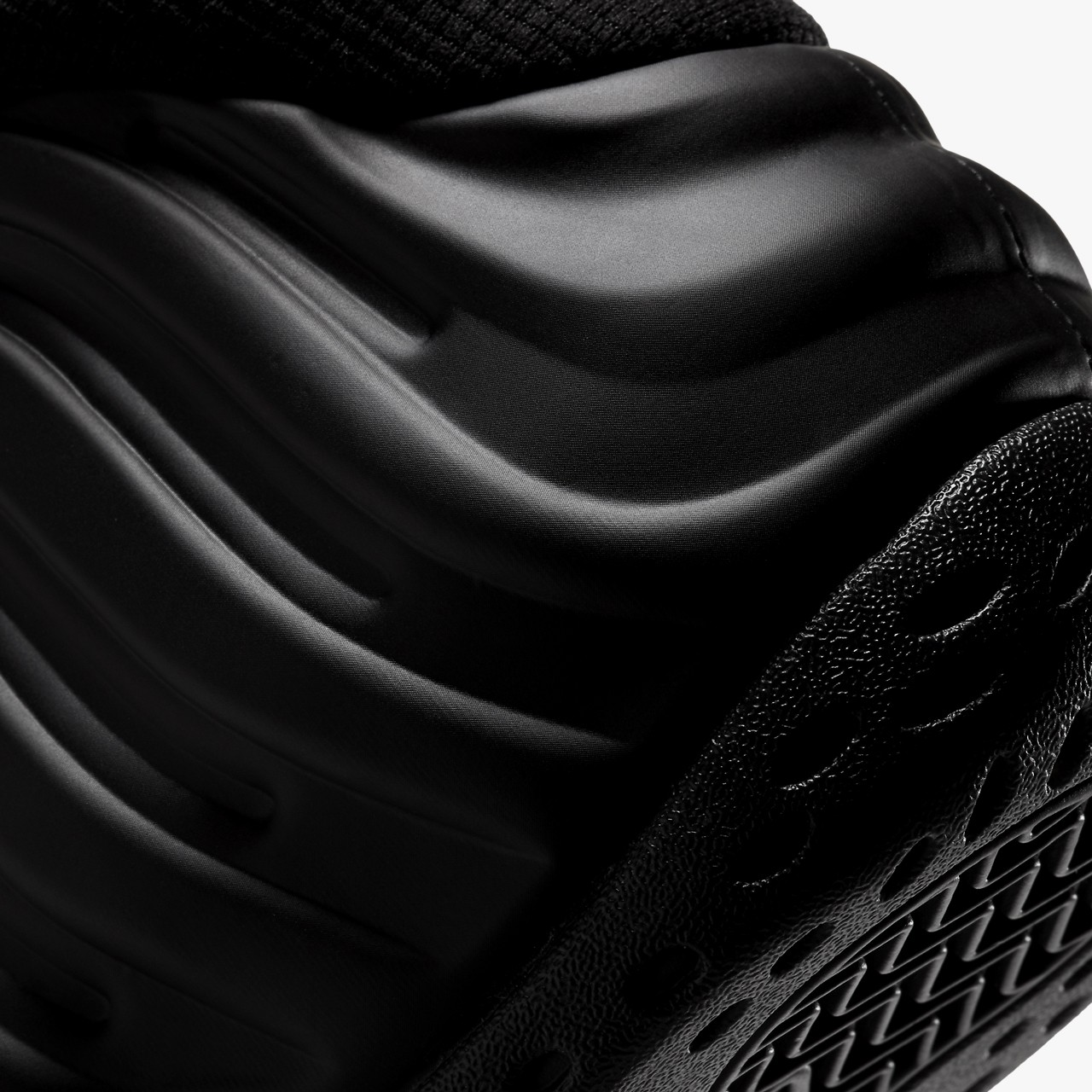 1 Air Foamposite One AllOver Swoosh Black ... ill Currency
