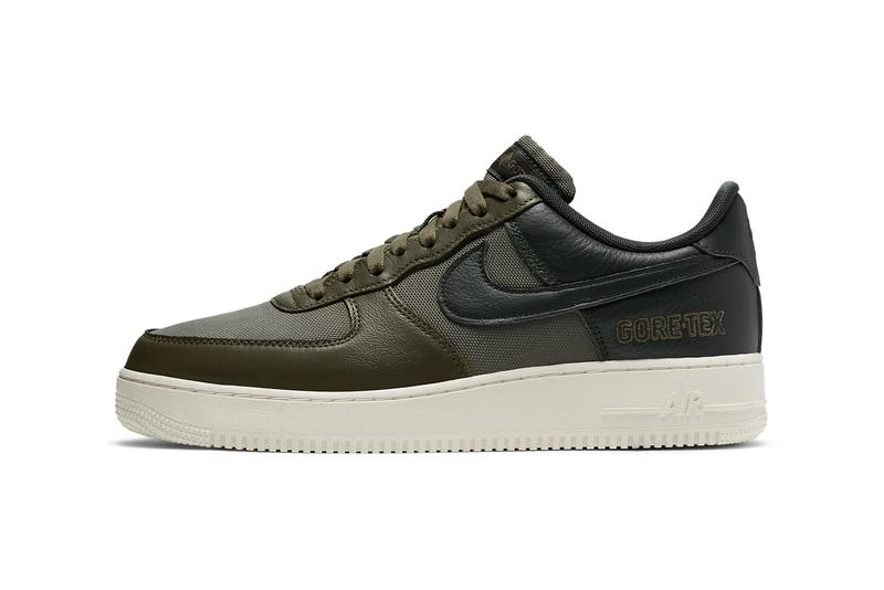 nike sportswear air force 1 low gore tex baroque brown sail seal medium olive deepest green CT2858 200 201 official release date info photos price store list buying guide