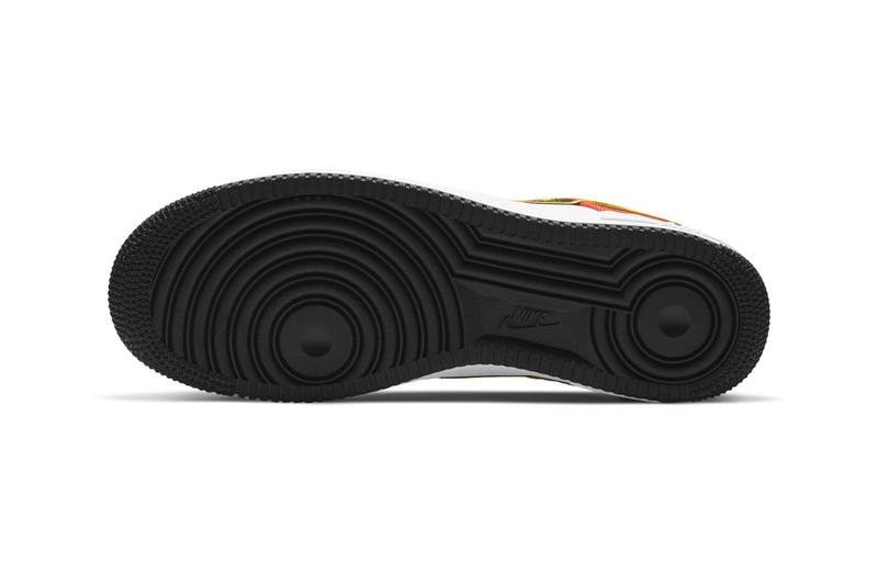 Nike Air Force 1 Raygun First Look 2021 Release CU8070-100 White Black Orange Flash Amarillo Roswell