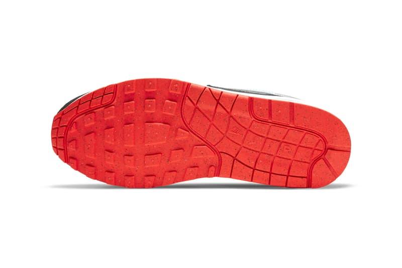 Nike Air Max 1 Dark Smoke Grey Glacier Ice CZ8138 100 info menswear streetwear spring summer 2020 collection ss20 shoes sneakers footwear trainers runners kicks