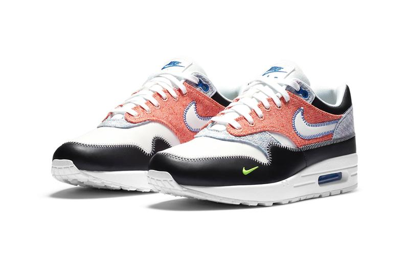 Nike Air Max 1 Game Royal White Black Electric Green CT1643 100 release menswear streetwear shoes sneakers footwear kicks trainers runners fw20 fall winter 2020 collection