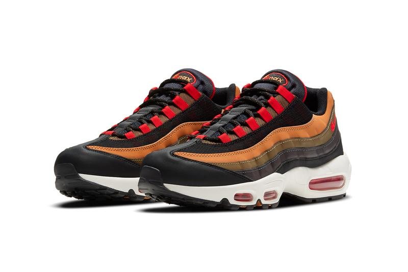 nike sportswear air max 95 yukon brown flax black university red olive green CT1805 200 official release date info photos price store list buying guide