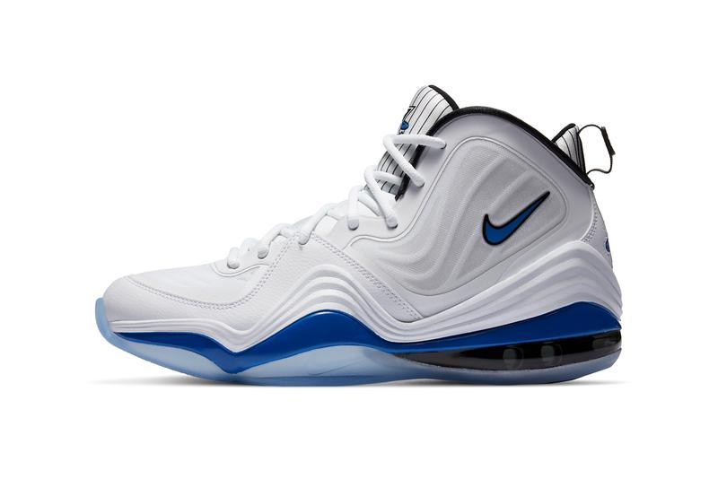 nike basketball air penny hardaway v 5 game royal white black orlando magic pinstripes CN0052 100 official release date info photos price store list buying guide
