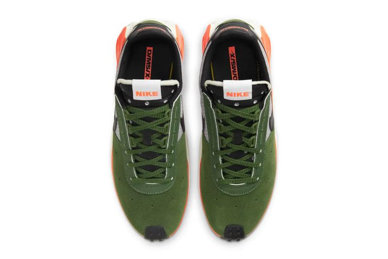 Nike D/MS/X Waffle Carol Orange forest green CQ0205-300 CQ0205-801 release menswear streetwear sneakers kicks shoes trainers runners fw20