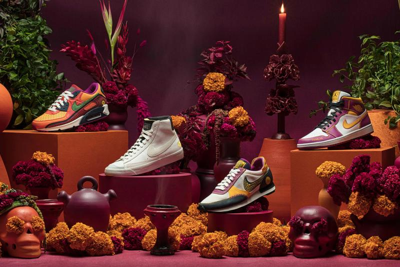 nike sportswear jordan brand dia de muertos day of the dead collection air 1 mid max 90 blazer vintage 77 daybreak type official release date info photos price store list buying guide