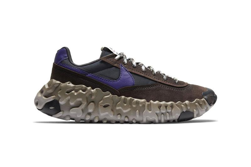 "Nike OverBreak SP ""Baroque Brown/New Orchid/Black"" DA9784-200 Sneaker Swoosh Footwear Release Information Closer First Look New Shoe Trainer OverReact Midsole Daybreak Upper Suede Synthetic Nylon"