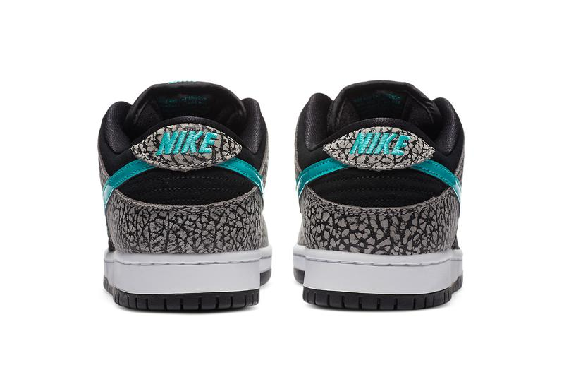nike sb skateboarding dunk low elephant atmos air max 1 black elephant jade blue gray white bq6817 009 official release date info photos price store list buying guide
