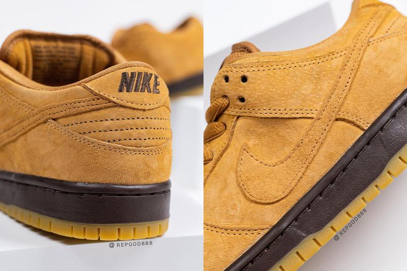 nike sb skateboarding dunk low wheat flax tan brown official release date info photos price store list buying guide