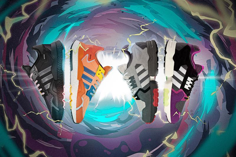 """Ninja x adidas Nite Jogger, ZX Torsion """"Chase the Spark"""" collaboration collection sneakers colorways"""