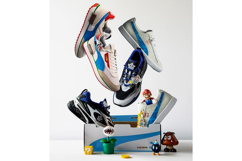 nintendo puma super mario 3d all stars footwear sneaker collection rs fast clyde future rider 64 galaxy sunshine teaser leak official release date info photos price store list buying guide