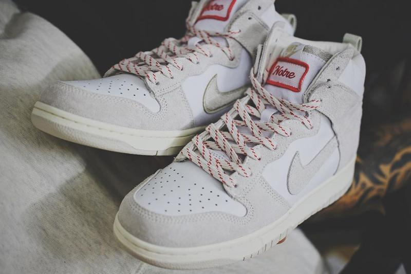 notre nike sportswear dunk high white tan red first look official release date info photos price store list buying guide